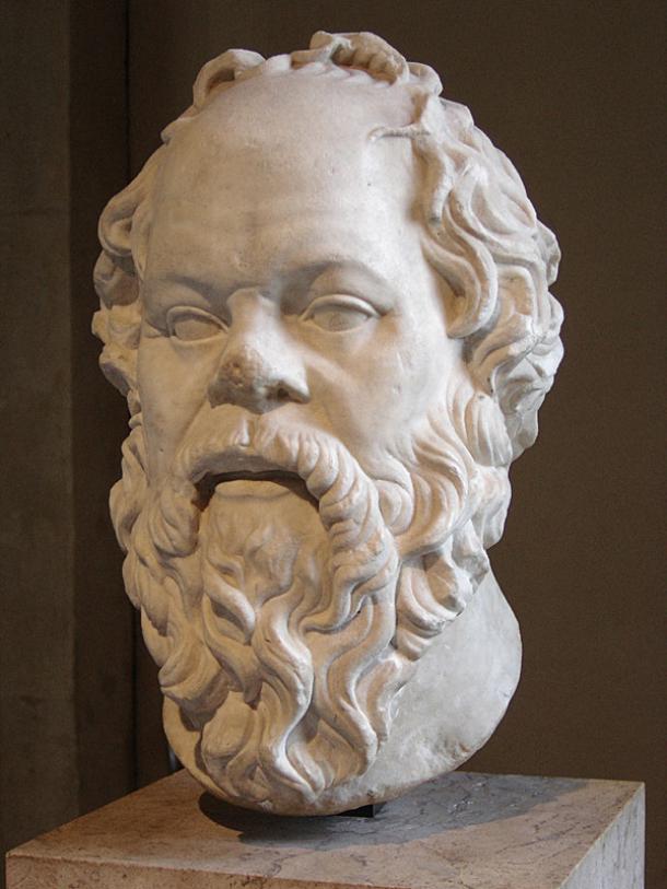 Скульптурный портрет Сократа. Римская копия утраченной бронзовой статуи Работы Лисиппа.